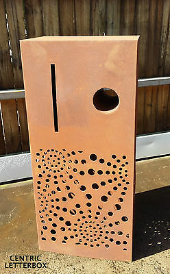 Northcote Pottery Corten Steel Centric Letterbox Garden Rectangle Mail Lockable