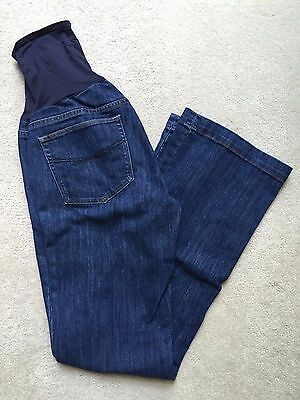 """GAP Maternity Long and Lean Jeans, Size 28/ 6L Long, Inseam 33"""", full panel"""