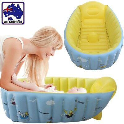 Inflatable Baby Tub Travel Baths Showers Soft PVC Newborn Infant BIBA48603