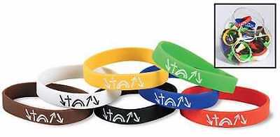 "Bracelet-Witness-Silicone Bands W/Display (8"")-7 Asst (Pack of 60)"