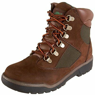 "Timberland 6"" Boys Youth Field Boot Brown Tb044992214 Youth Boot Size 4-7"