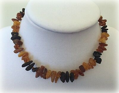 Raw Baltic Amber Teething Necklace Genuine Amber Unpolished Pain Relief