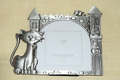 Pewter Cat Picture Frame Castle