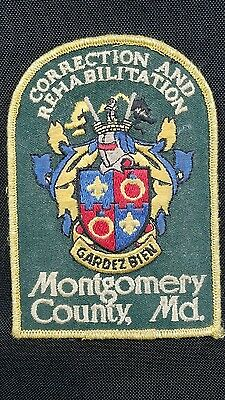 Vintage Montgomery County, MD Correction and Rehabilitation Patch Gardezbien