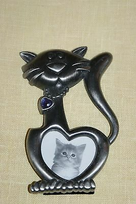 Pewter Cat Picture Frame with Jewel
