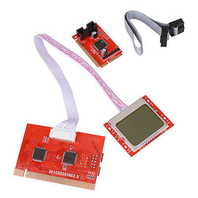 Laptop PCI Computer Motherboard Diagnostic Tester Analyzer Card Mainboard Red