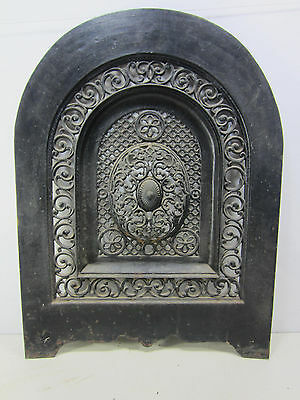Vintage Cast Iron Fireplace Summer Cover- Arched Top- Great for the Garden #2