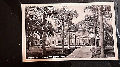 William Wrigley  postcard residence real photo vintage chewing Gum Pasadena Ca.