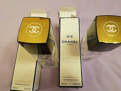 Chanel 5 empty perfume bottles with original packing