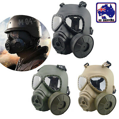 M04 Wargame Airsoft Dummy Gas Mask Cosplay Face Protection Gear Live CS JMAS499