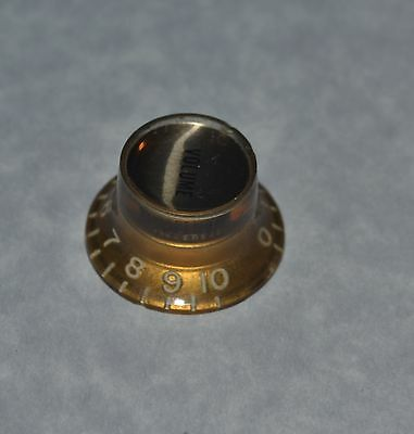 Vintage Gibson 1960s -70s Gold Electric Guitar Reflector Volume Knob