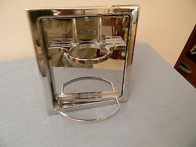 Hall-Mack Mid-Century Chrome Concealed Bathroom Soap Toothbrush Cup Holder