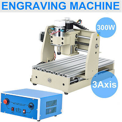 CNC Router Engraver Milling Machine Engraving Drilling 3 Axis 300W Desktop Sale!