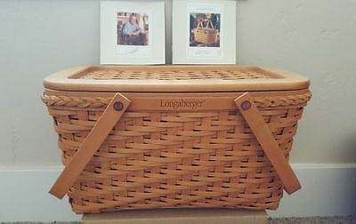 Longaberger Collectors Club Founders Market Basket & Lid NEW ~Signed Gary/Lynn