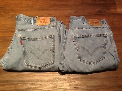 Levi's 550 Men's Relaxed Fit Jeans Lot Of 2 Pair Distress WORK PANTS SZ 38 X 32