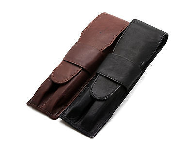 Leather Fountain Pen Case  Antique Brown  OVERSIZED