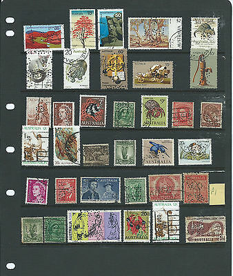 Australia - Assorted Perfin Used stamps (P1) Used Lot Cheap starting price
