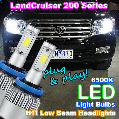 LED Light Bulbs to suit Toyota Landcruiser 200 Low Beam (H11 6500K 'HID White')