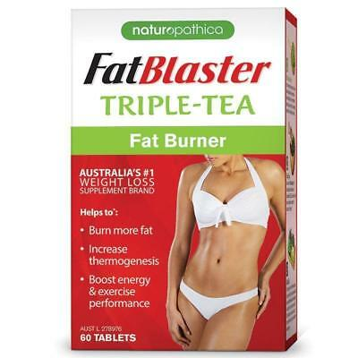 Naturopathica Fatblaster Triple-Tea Fat Burner 60 Tablets Weight Loss Supplement