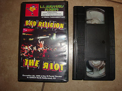 Bad Religion - The Riot VHS December 29, 1990 El Portal Theater Collector's Ed.