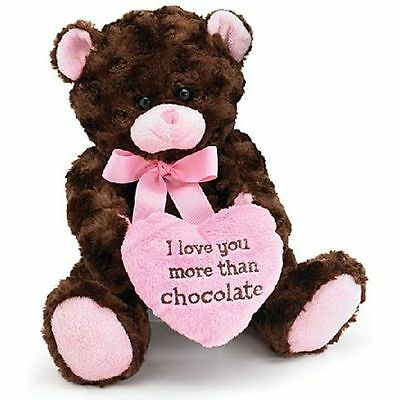 I Love you More Than Chocolate Valentines Day Heart Teddy Bear new
