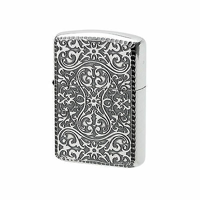 Authentic Zippo Armor Arabesque Silver Case Double Sided 1201S475