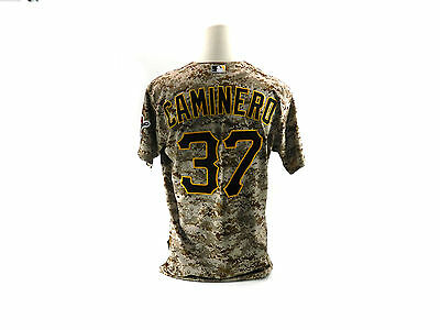 2015 Pittsburgh Pirates Arquimedes Caminero #37 Camo Game Used Jersey 1951
