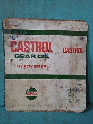 Vintage Old Castrol Gear Oil Ad. Litho Tin Sign Board collectible #103