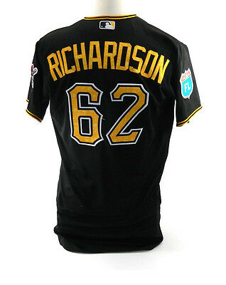 2016 Pittsburgh Pirates Antoan Richardson #62 Spring Training Game Issued Jersey