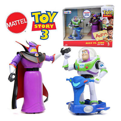 Disney Pixar Toy Story Buzz vs Zurg Action Figure Kinder Figurines Play Set Gift