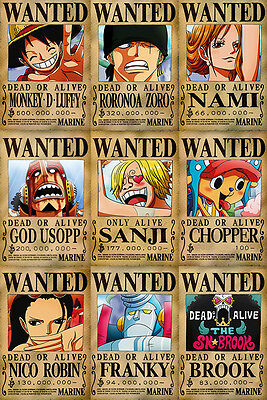 One Piece WANTED Posters PACK (26 x 40 cm) - MUGIWARA PIRATES - Last Bounties!