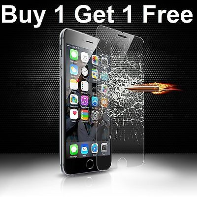 100% Genuine Tempered Glass Screen Protector Film For Apple Iphone 6 Plus - New