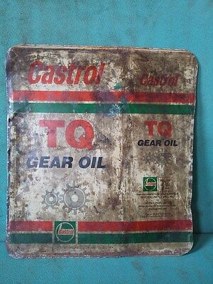 Vintage Old Castrol TQ Gear Oil Ad. Litho Tin Sign Board collectible #116