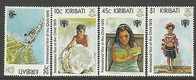 KIRIBATI 1979 INTERNATIONAL YEAR OF THE CHILD 4v MNH