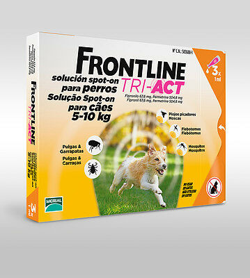 Frontline Tri-Act Cani 5-10 Kg 3 Pipette