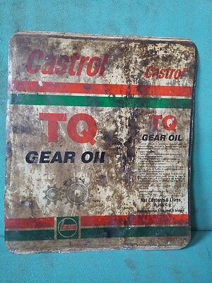 Vintage Old Castrol TQ Gear Oil Ad. Litho Tin Sign Board collectible #117