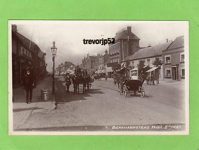 Berkhamsted High Street Horse & Carriage unused RP pc Ref A689