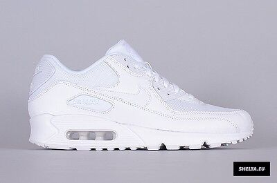 Uk 9 Nike Air Max 90 Essential White Trainers Sneakers Eur 44 Us 10