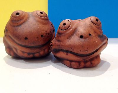 Frogs figurines ceramics handmade made in Russian Frogs for a collection