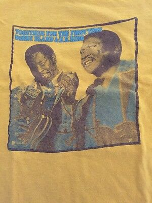 Vintage Bobby Bland & BB King 1974 ABC Records Blues T Shirt Excellent Sz Large