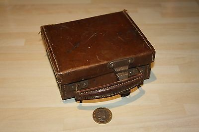 Tiny Vintage Leather Suitcase ~ Collectable