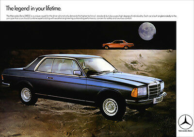 Mercedes 280Ce Coupe W123 Retro A3 Poster Print From Classic 70's Advert
