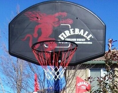 new fire ball full size basketball hoop