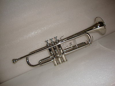 **BRAND NEW Students SILVER  Bb FLAT-Trumpet With Free Hard Case+M/P FAST SHIP