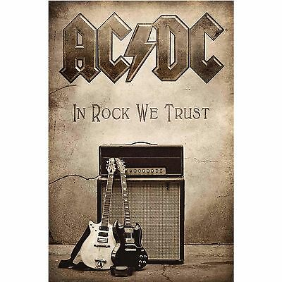AC/DC In Rock We Trust Textile Poster Flag