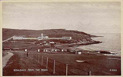 BOWLEAZE FROM THE ROAD, WEYMOUTH, DORSET : POSTCARD (1960s)