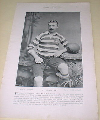 G. Carpenter - Coventry Rugby / W. T. Pearce - Bristol Rugby, 1895 Print