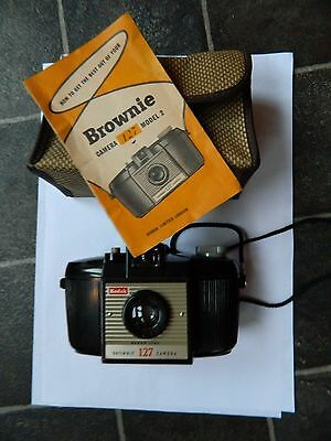 Kodak Brownie 127  camera with instructions in case