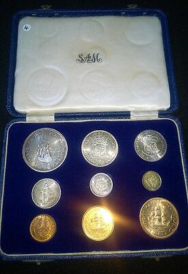 South Africa 1952 Short Proof Set in SA Mint Box - Excellent
