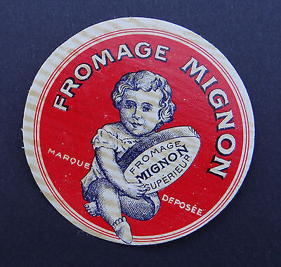 Etiquette fromage MIGNON bébé baby bambino french cheese label